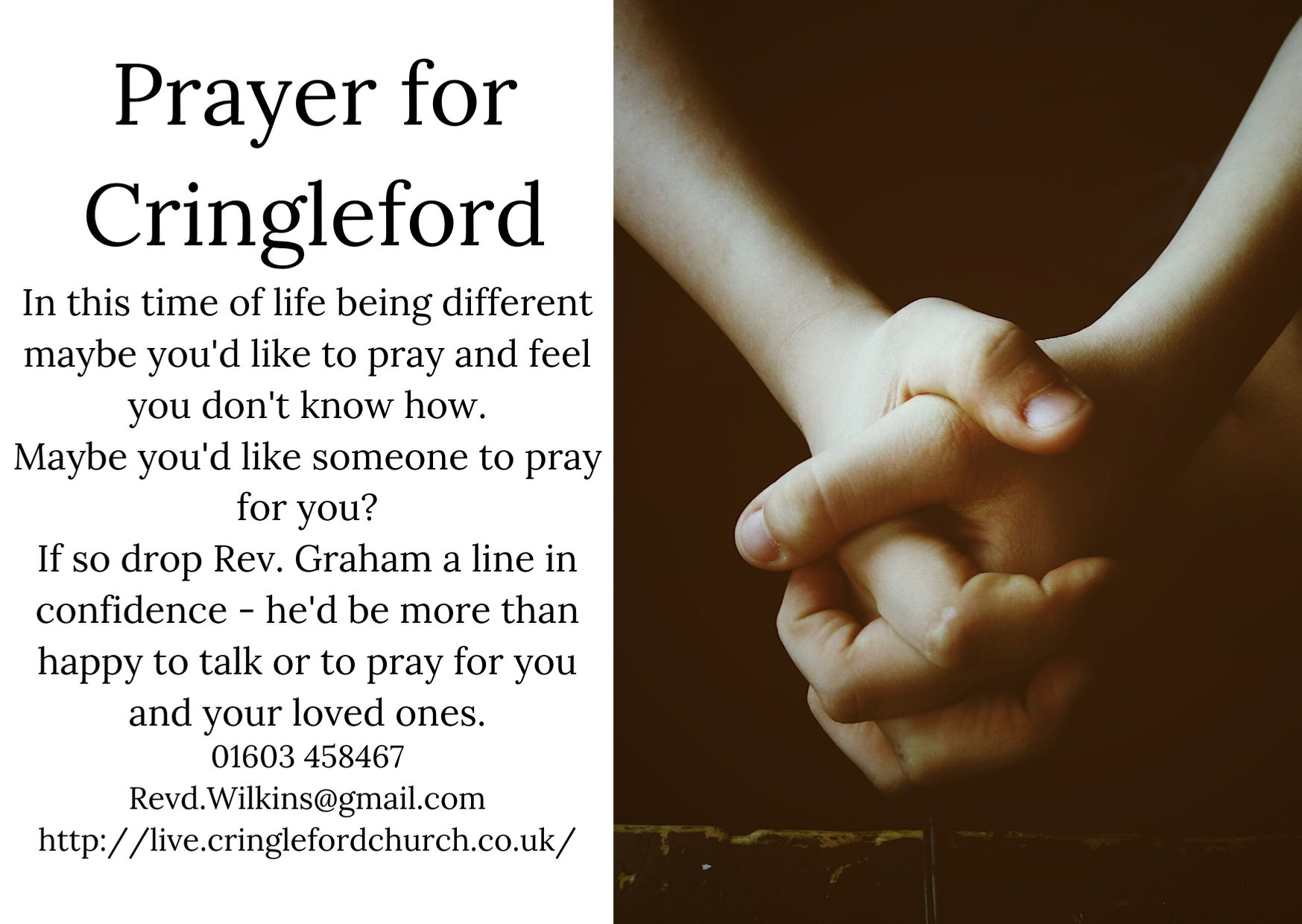 Prayer for Cringleford